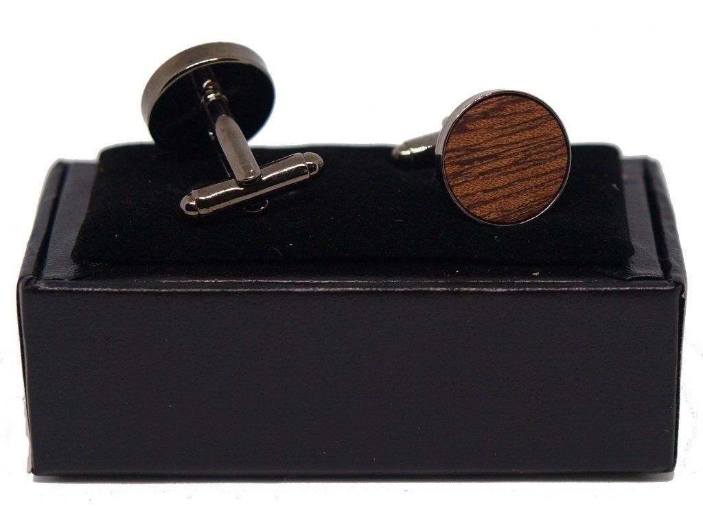 Dřevěné manžetové knoflíčky Carl mahagon