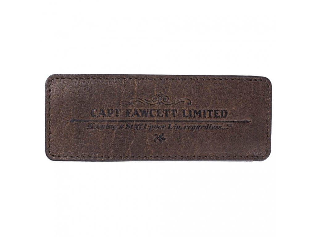 Captain Fawcett kožené pouzdro pro skládací hřeben na vousy
