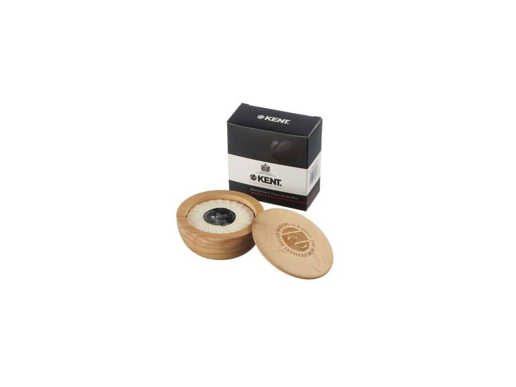 Kent mýdlo na holení s dřevěnou miskou 120 g