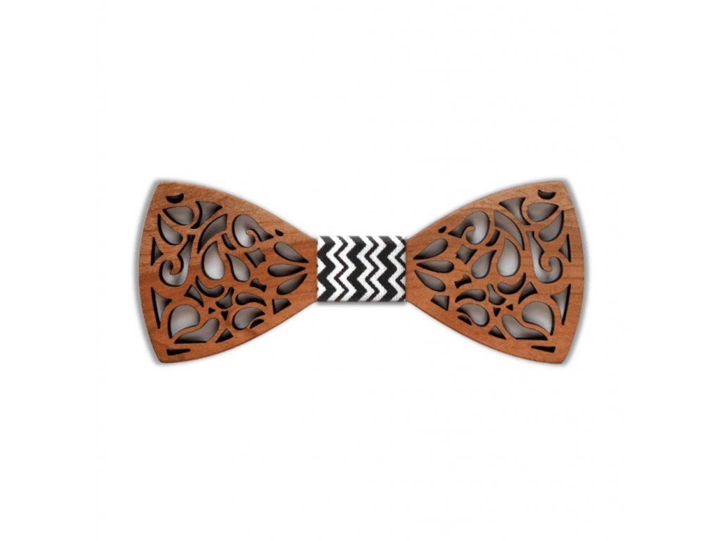 Dřevěný motýlek Johnny vyřezávaný