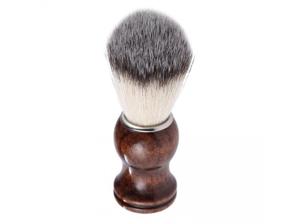 štětka na holení dřevo ořech