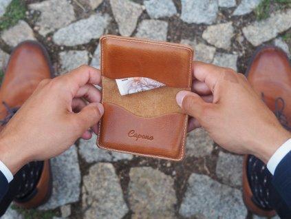 Kožený obal na karty Honey Joe
