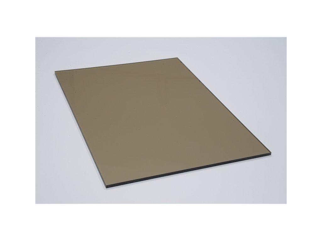 Plné desky s UV filtrem bronz / hnědé / kouřové