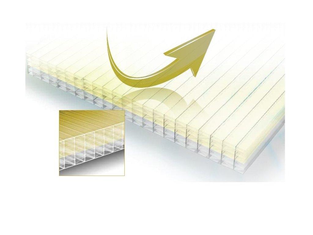 Polykarbonátová deska Macrolux 16mm MMW IR gold