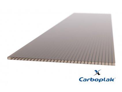 Polykarbonátová deska Carboplak komorová 8 mm bronz (Délka 2000, Šířka 1050)