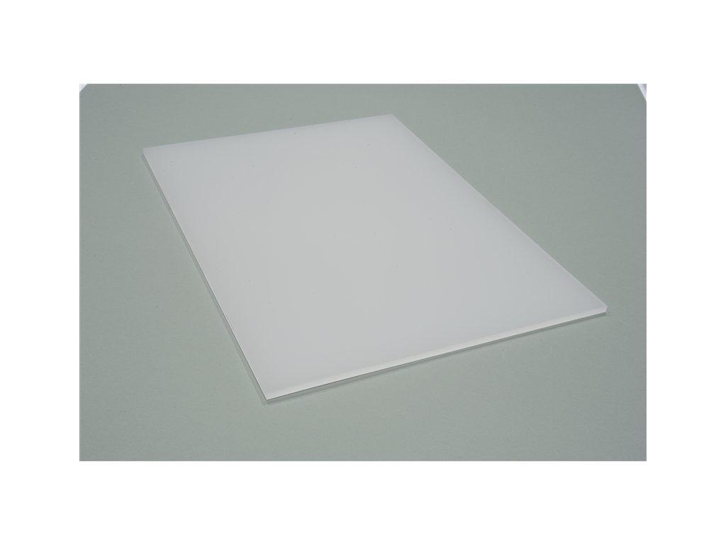 Plné dosky s UV filtrom mliečne / biele / opál
