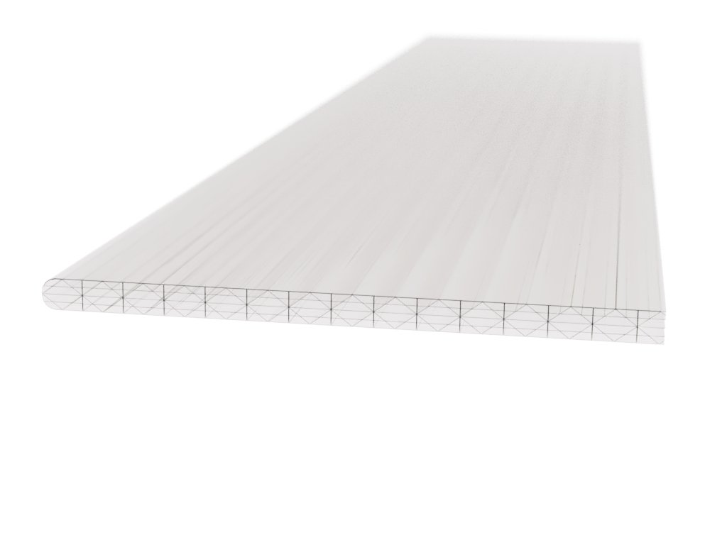 Polykarbonátová platňa LEXAN komorová 16 mm číra UV (Délka 2000, Šířka 1050)