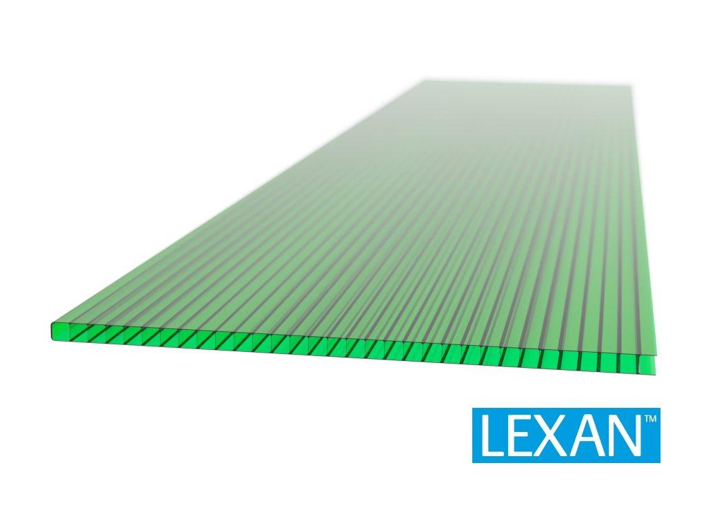 Polykarbonátová platňa LEXAN komorová 10 mm zelená 2UV