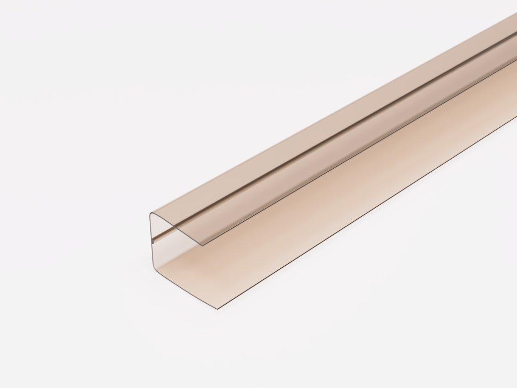 plastovy profil U10 bronz