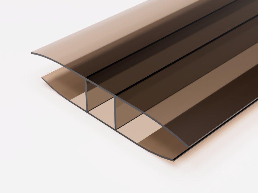 plastovy profil H10 bronz