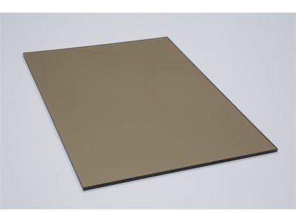 Polykarbonátová platňa LEXAN plná 4 mm hnedá UV (Šířka 1025, Délka 1015)