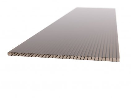 Polykarbonátová platňa Carboplak komôrková 10 mm bronz