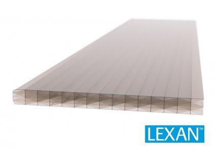 Polykarbonátová platňa LEXAN komorová 25 mm hnedá 2UV