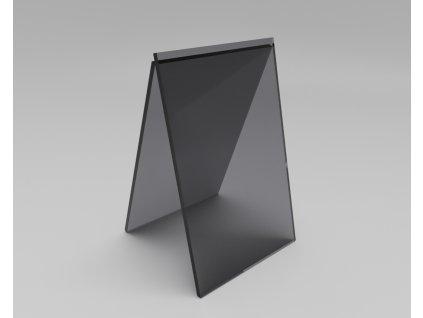 Plný polykarbonát šedý