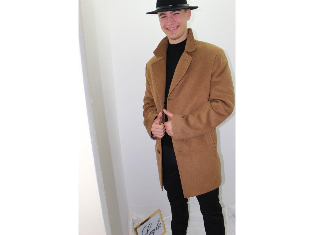 Pánsky hnedý  kabát