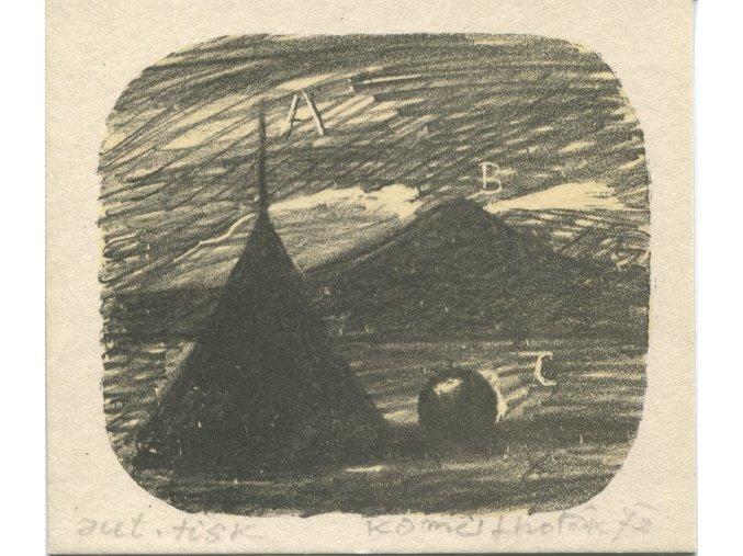 Kamil Lhoták - ABC, 1972, litografie