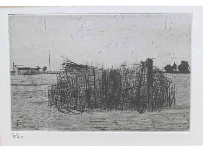 Kamil Lhoták - Překážka, 1945, suchá jehla