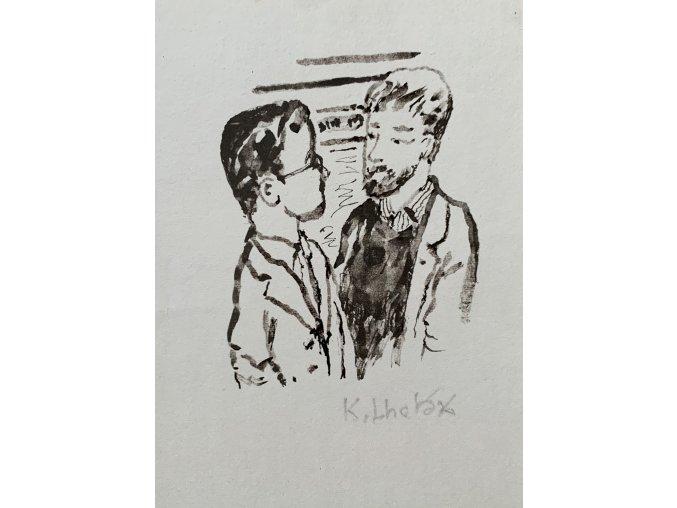 Kamil Lhoták - Rozhovor, 1989, serigrafie
