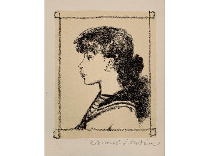 Kamil Lhoták - Odilla, 1954, 10 litografií ve vzácné bibliofilii