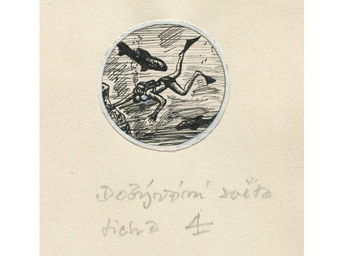 Kamil Lhoták - Dobývání světa ticha 4, 1961, tuš