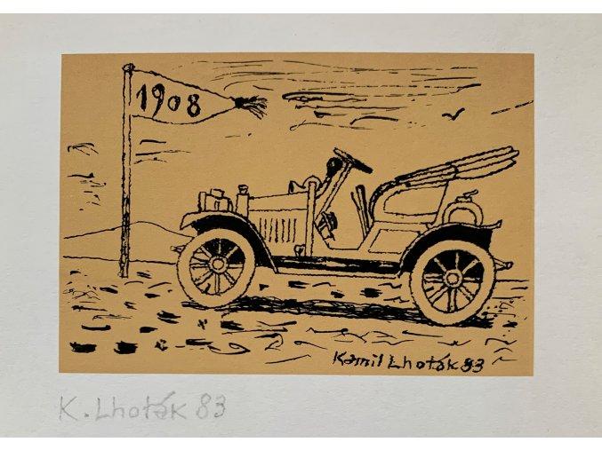 Kamil Lhoták - Veterán 1908, 1983, serigrafie
