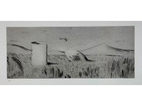 Kamil Lhoták - České Středohoří, 1978, suchá jehla