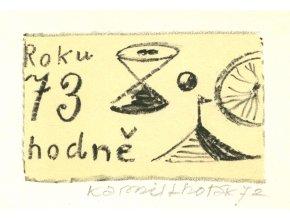 Kamil Lhoták - PF 1973 (Roku 73 hodně...), litografie