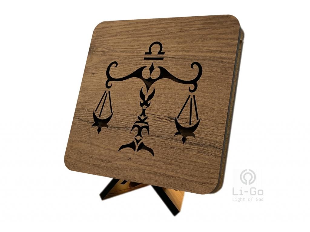 """Znamení """"Váhy"""" lampa 19x19"""