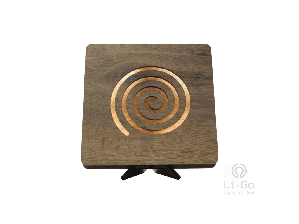 globe spiral 44 tbílá 1 stolní LED lampička 31x31cm