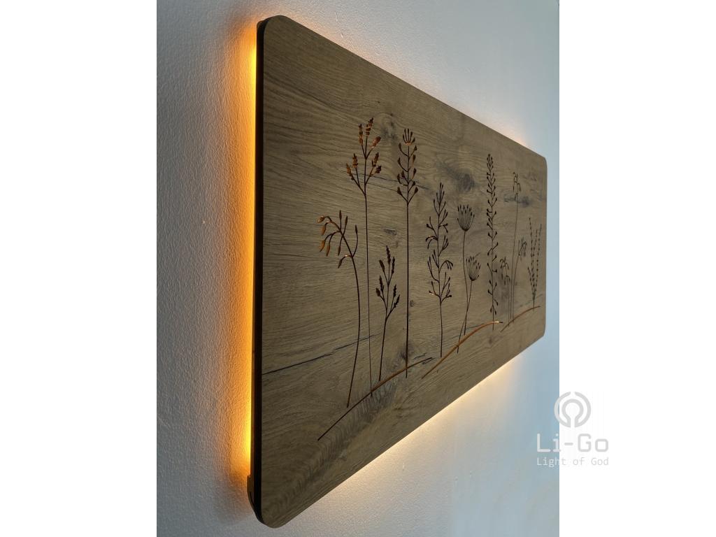 """""""Louka"""" světelný obraz 90x42cm"""
