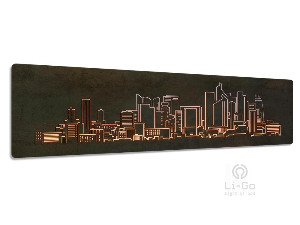 """""""Paříž"""" světelný obraz 122x38cm"""