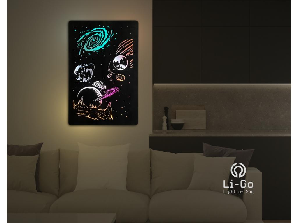 """""""Vesmír"""" světelný obraz RGB 60x90cm"""