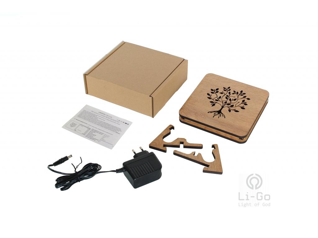 """Mandala srdce"" lampa 19x19"