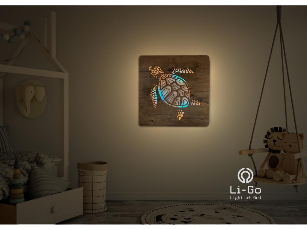 """""""Želva"""" světelný obraz RGBW 62x62cm"""
