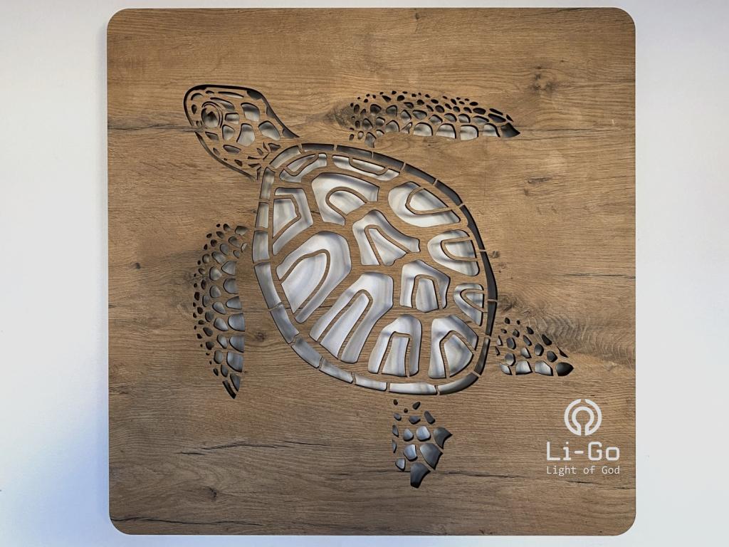 """""""Želva"""" světelný obraz 62x62cm"""