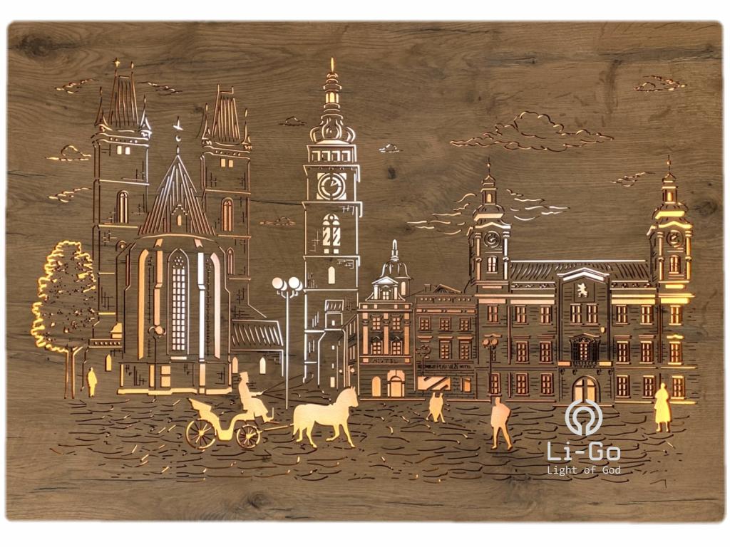 """""""Hradec Králové"""" světelný obraz 100x70cm"""
