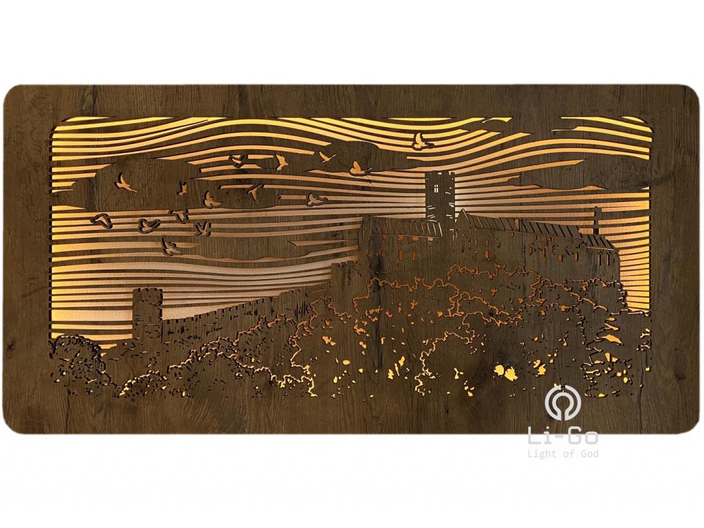 """""""Bezděz"""" obrazové svítidlo s power bankou 100x50cm"""