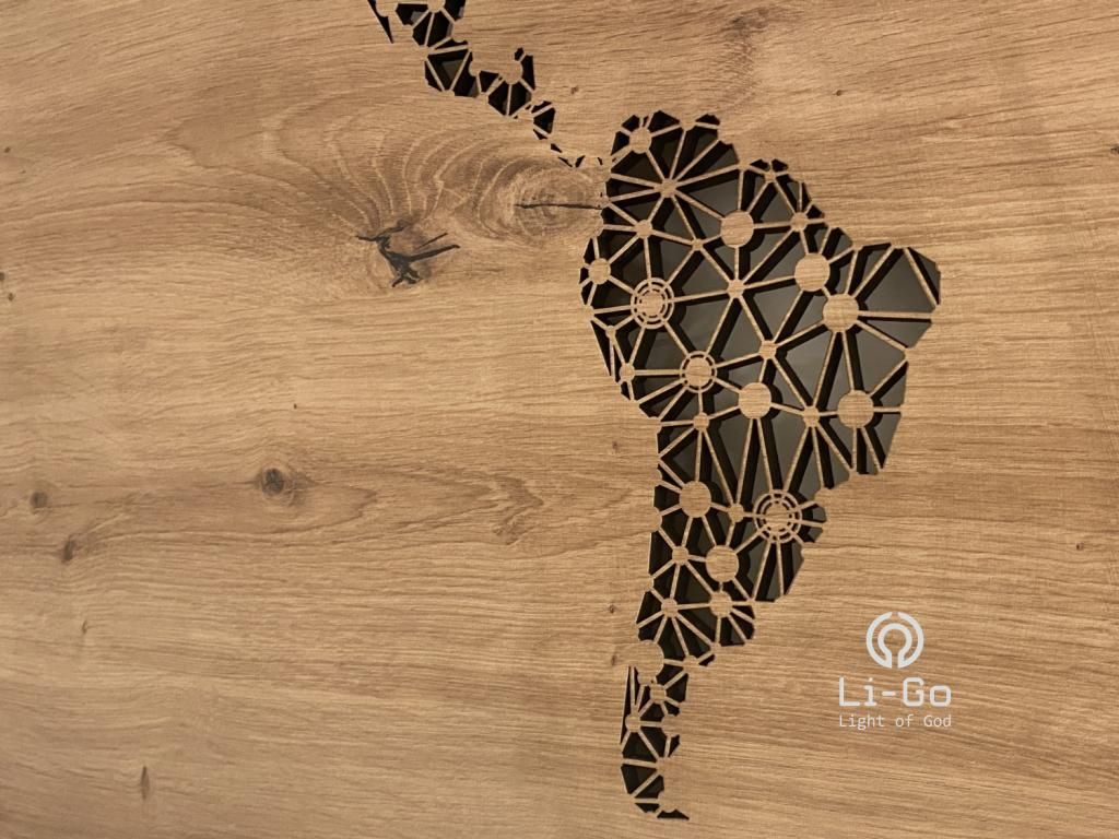 """""""Mapa světa"""" světelný obraz s baterií 20x60cm"""