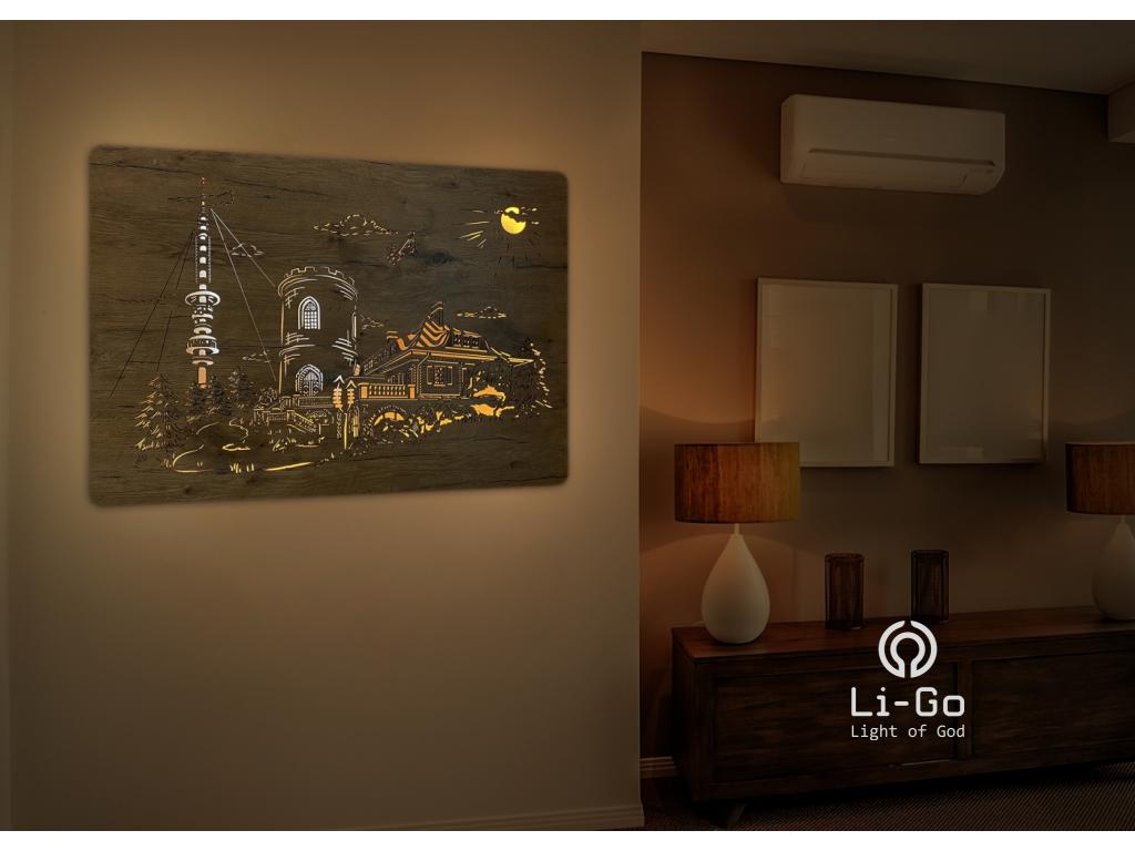 """""""Kleť"""" obrazové svítidlo s power bankou 100x75cm"""