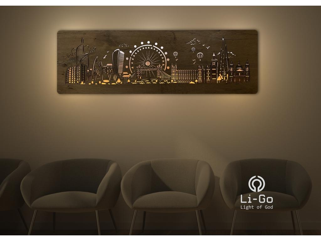 """""""Londýn"""" světelný obraz 125x40cm"""