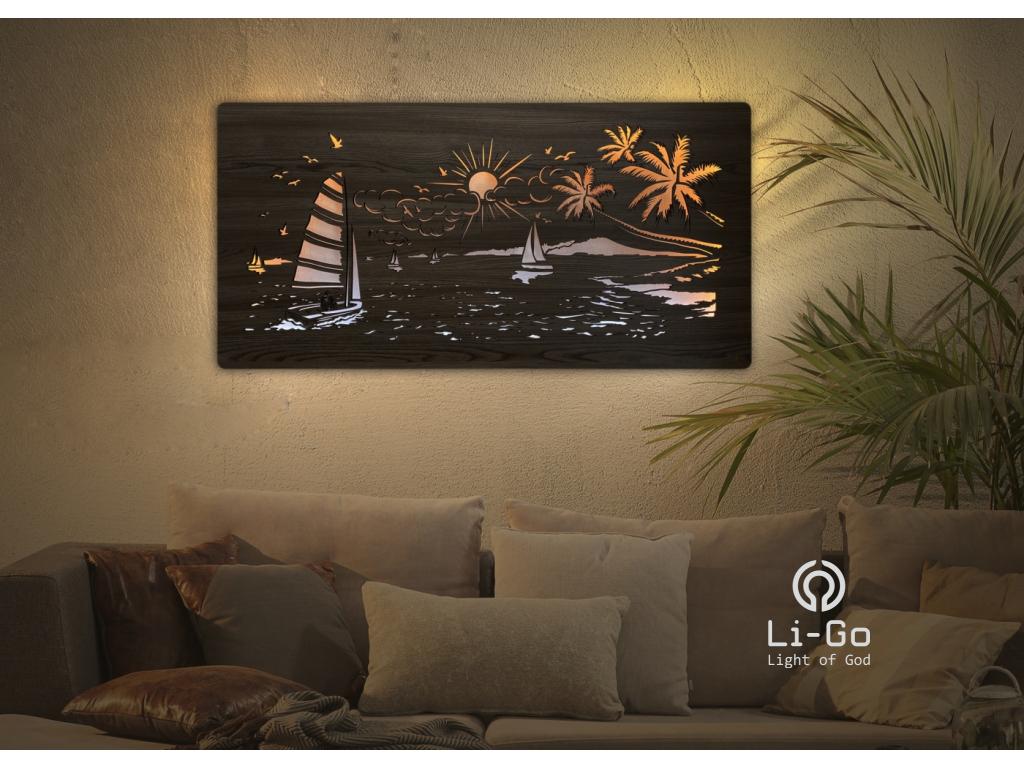 """""""Moře"""" světelný obraz 120x60cm"""