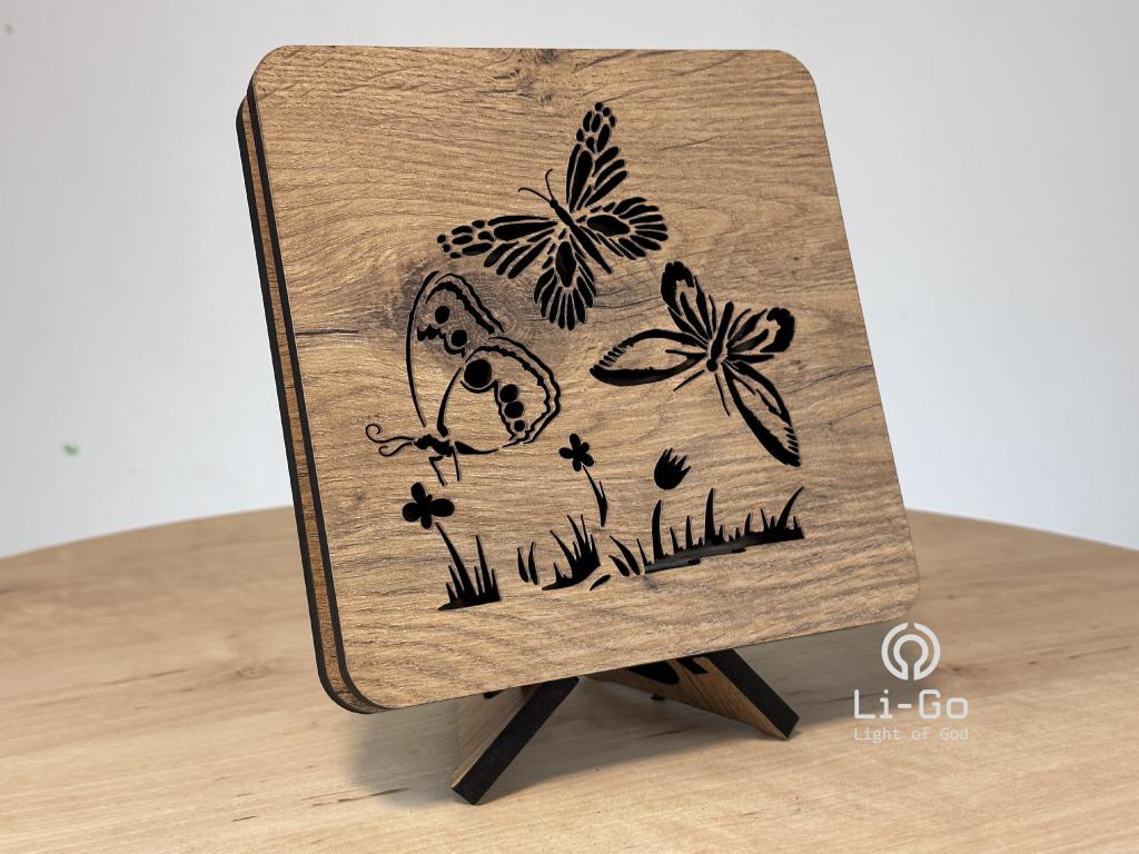 """""""Motýli"""" lampa 19x19"""