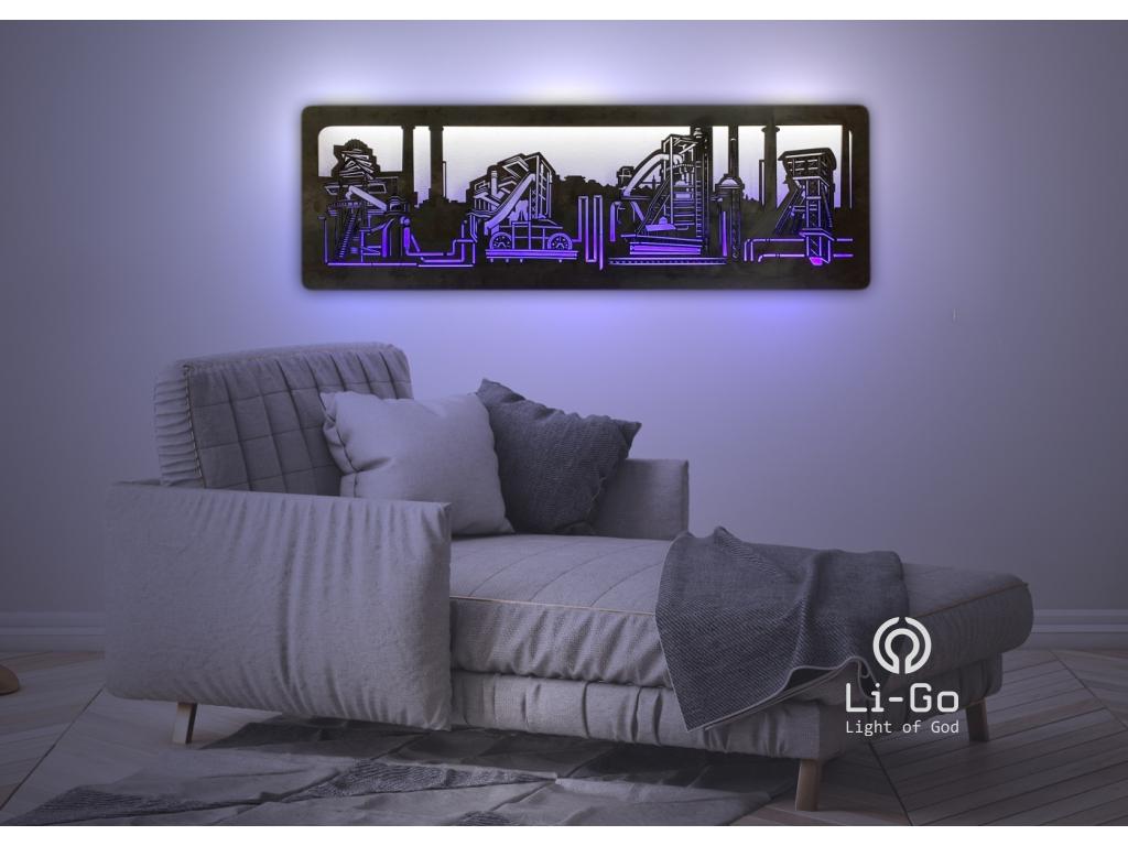 """""""Vítkovice"""" světelný obraz 120x40cm"""