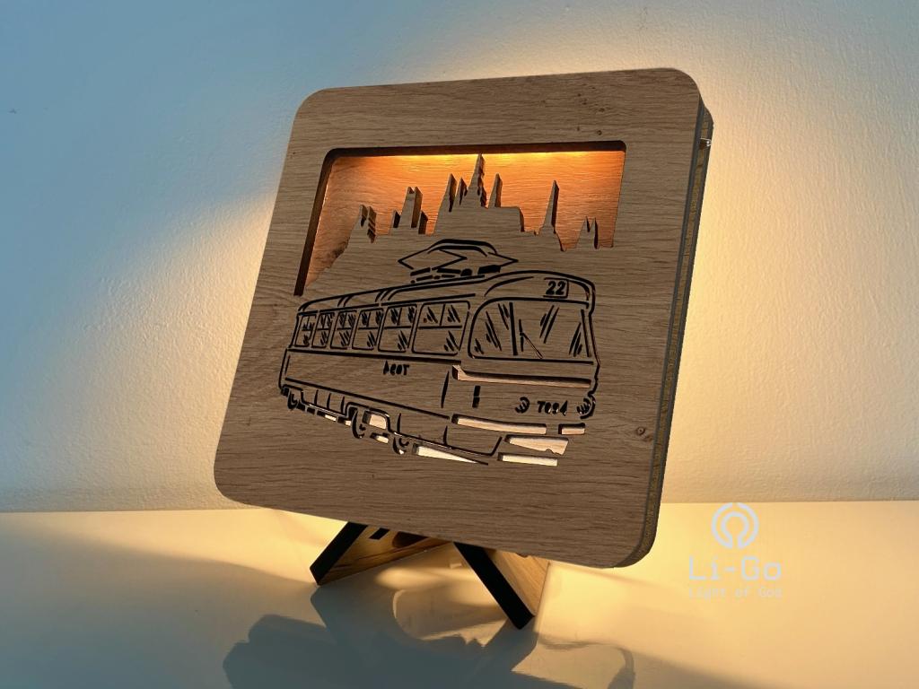"""""""Tramvaj"""" lampa 19x19"""
