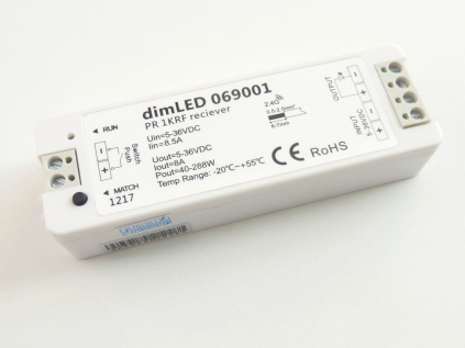 Příjímač a stmívač k LED obrazovému svítidlu