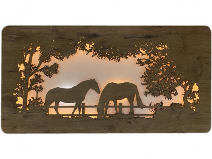 """""""Koně"""" světelný obraz 120x50cm"""