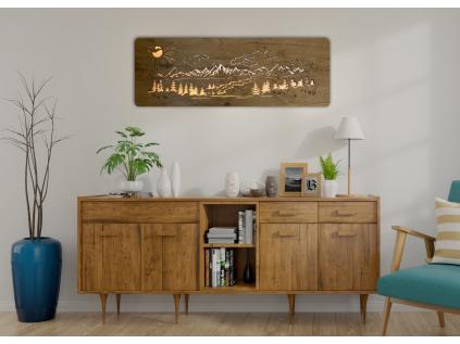 """""""Hory, les"""" světelný obraz 120x40cm"""