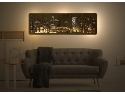 """""""Ostrava"""" světelný obraz 120x40cm"""