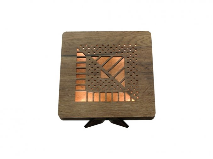 cube 2D 44 tbílá 1 stolní LED lampička 31x31cm