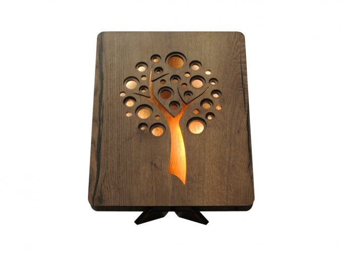 tree apple 44 dt 1 utb+žlu stolní LED lampa 31x31cm